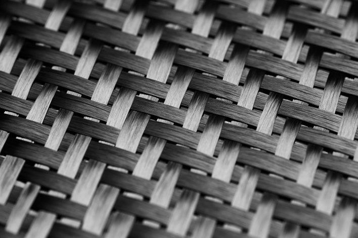 Carbon Fiber Cloth Fabric. Macro.